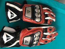 Dainese Full Metal Titanium D1 Glove White / Black with Red Trim Size Medium