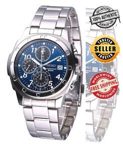 Seiko Chronograph SNDB37 SNDB37P1 Men Stainless Steel Blue Dial Watch