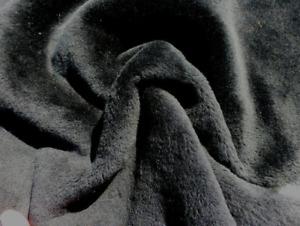sheepskin shearling leather hide Jet Black light weight Silky Hair w/suede back