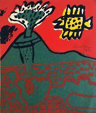 Guillaume Corneille (1922-2010) Rare sérigraphie 1972