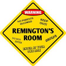 """*Aluminum* Remington's Room Kids Room Door 12""""x12""""  Metal Novelty Sign"""