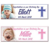 2 Personalised Birthday, Christening, Baptism, Naming Day, Baby Shower Banner