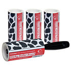 Sticky Roller Brush plus 3 x 7.5m Refill Rolls in Cowhide Design SAVE 18% 2809-1