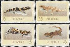 Zimbabwe 1989 LUCERTOLE GECHI// rettili/Animali/NATURA/animali selvatici 4v Set (n15842)