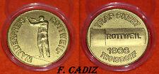 """MEDALLA ORO """" CAMPEONATO DE TIRO - TROISDORF 1966 """" 30 MM  10 GRS  CAPSULA"""
