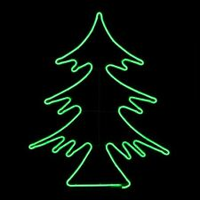 Neon Green Led Christmas Tree Outdoor Xmas Rope Light Static Decoration 66x82cm