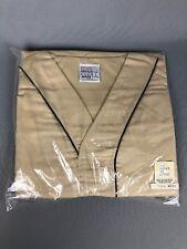 New Old Stock Sears Mens Pajama Nightshirt Large Tall 42/44 Tan Brown Piping