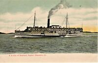 OR Astoria 4X6 POSTCARD of USCG COLUMBIA LIGHTSHIP Montage Lantern Press 31162