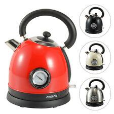 AREBOS Wasserkocher Teekocher Teekessel Edelstahl Retro Design 1,8l 3000W