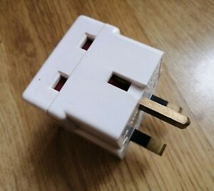 1 convert to 2 Extension Gang 13 Amp Socket block multi plug AC input way add