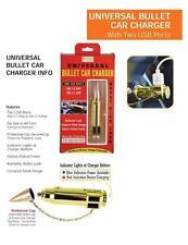UNIVERSAL FAKE GUN BULLET DUAL USB 2 PORT CAR CHARGER iphone 6 galaxy cool G47