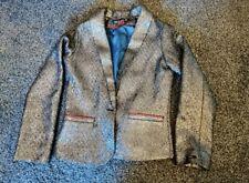 LILI GAUFRETTE Designer Filles Veste de tailleur 11-12 ans entièrement neuf sans étiquette effet peau de serpent