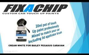 CAR TOUCH UP PAINT KIT CARAVAN BAILEY PEGASUS RAL 9001 CREME WHITE WEISS