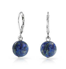 Pendientes Lapis Lazuli Natural Plata 1ª Ley 925. Nuevos.