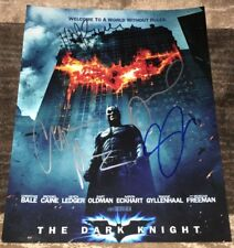 CHRISTIAN BALE +3 SIGNED AUTOGRAPH THE DARK KNIGHT 11x14 PHOTO w/EXACT PROOF