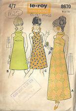 """1960s Vintage Sewing Pattern B36"""" DRESS (1625)  Barbara Hulanicki (Biba)"""