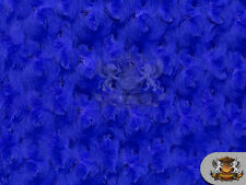 "Minky Rosebud Royal Blue Fabric / 58"" Wide / Sold by the yard"