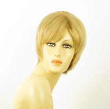 perruque femme 100% cheveux naturel courte blonde ref LAETITIA  22