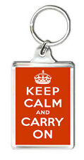 KEEP CALM AND CARRY ON KEYRING NEW LLAVERO