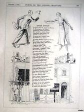 """1931 Punch Poem Print Illustrated by E H SHEPARD - """"Green Street"""""""