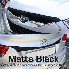 Hood Trunk Garnish Matte Black 2EA Genuine For Hyundai Tucson 2011 2013
