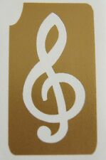 GT8 Body Art Temporary Glitter Tattoo Stencil Music Note Treble Clef