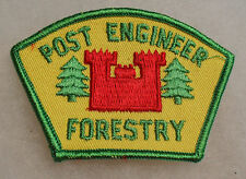 """1960'S VIETNAM ERA """"POST ENGINEER FORESTRY"""" GROUP PATCH EMB 3 1/ 2"""" wide"""