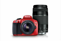 Canon EOS Rebel T6 18.0 MP Digital DSLR Camera Kit with 18-55 EF-S Lens - RED!
