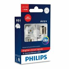 PHILIPS 12898RX2 Ultinon P21W RED Intense LED 12V Stop Light x2
