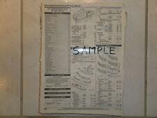 2002 2003 INFINITI  I35 PARTS LIST