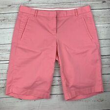 J. Crew Chino Shorts Size 6 Women's Bermuda Walking Shorts Pink M7