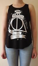 HARRY POTTER Wizard Black Tshirt Vest Tank Top t-shirt DEATHLY HALLOWS triangle