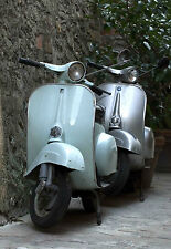 SUPERB RETRO ITALIAN VESPA SCOOTERS CANVAS #510 CLASSIC MOD SCOOTER CANVAS