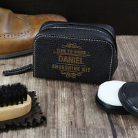 Personalised Shoe Care Kit Father's Day Birthday Brush Shine Polish Cleaning Set
