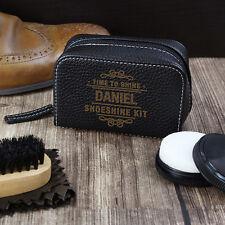 Personalised Shoe Care Kit Father's Day Birthday Brush Shine Polish Cleaning Set