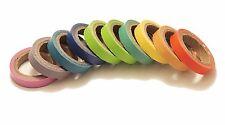 10 Rouleaux étroits Arc-en-Papier adhésif Washi Masquant Papier Collant 0.7 CM x 5 m