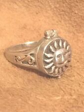 Vintage Sterling Silver Poison Sun Ring Size 4.75 Pinkie  5.1g