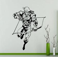Green Arrow Wall Decal Marvel Comics Superheroes Vinyl Sticker Kids Decor 277su
