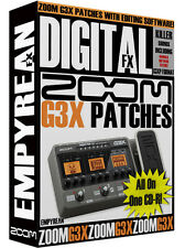 ZOOM G3X Patches Guitar Effects Pedal Tone Presets Amp Settings Win Mac
