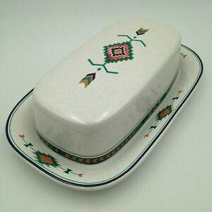 Studio Nova Adirondack Covered Butter Dish Y2201 Southwestern Aztec Design