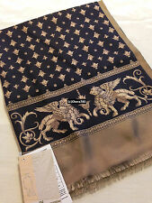 "Russian Pavlovo-Posad Mens Scarf ""Seville""100% Silk Front 27x140cm/11""x55"""