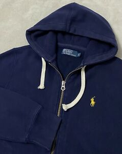 Ralph Lauren Zip Up Hoodie Size Small Navy Blue Casual/Gym Preppy Polo RL