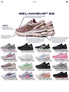 Women's SIZE 9 ASICS GEL-NIMBUS 22 Running Shoes
