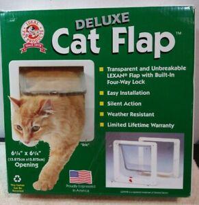 """NEW Ideal Pet Products CF-L Cat Flap Door w/ 4 Way Lock,6.25"""" x 6.25"""" Flap Size"""