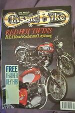 Classic Bike Magazine. April, 1990. Number 123. BSA Road Rocket and Lightning.