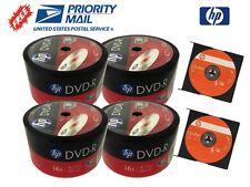 200-PACK 16X HP Logo Top Blank DVD-R DVDR Disc 4.7GB + 2 FREE HP-CD-RW Discs