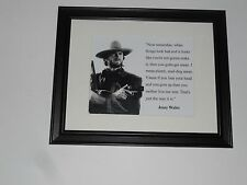 "Framed Josey Wales Clint Eastwood Poster with Quote in Glass Frame 14"" by 17"""