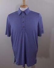 Ralph Lauren RLX Purple  Striped Golf Polo Shirt Sz L