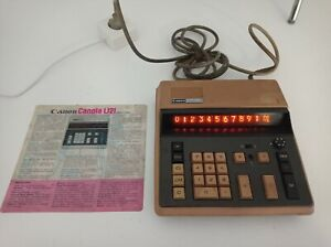 Calculatrice Vintage RARE CANON CANOLA L121 ''Nixie Tube'' collection + notice