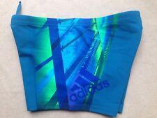 adidas Performance AY2828 Infinitex Blue Green Swim Short Boxer 3 Stripe 32